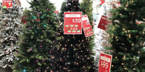 Trendy Black Pre-Lit Christmas Trees From $25 at Walmart   In-store and Online