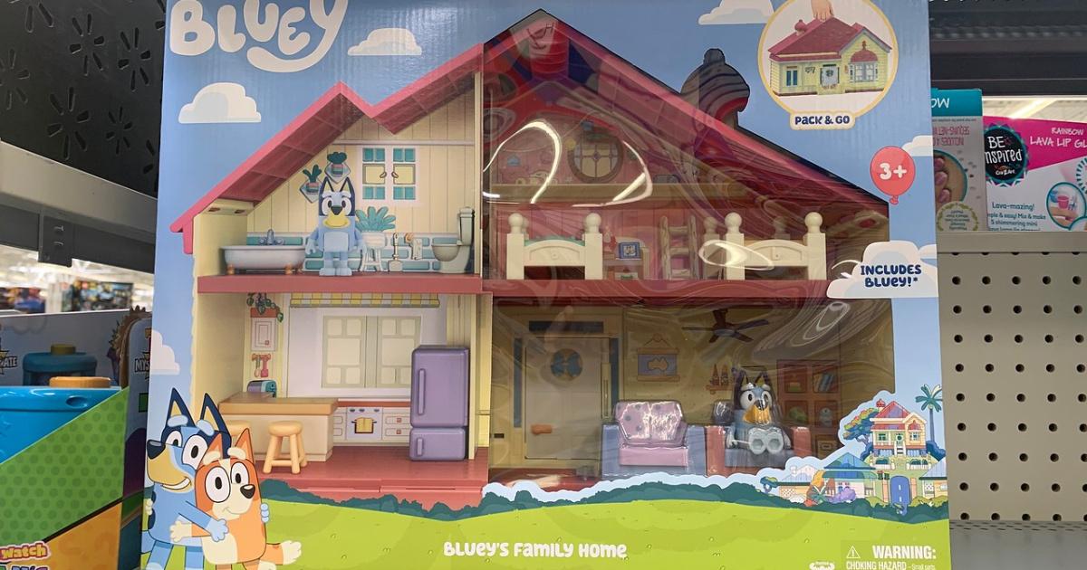 Bluey's Family Home toy set on store shelf