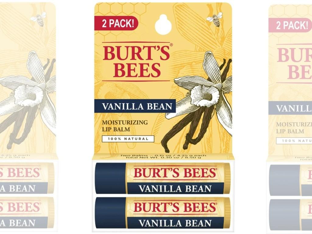 Burt's Bees brand natural lip balm in packaging