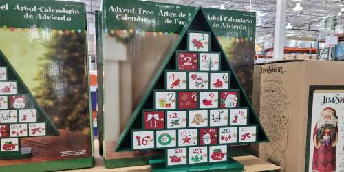 Wooden Advent Tree Calendar Only $29.99 at Costco | Fill with Toys, Notes, Candy + More
