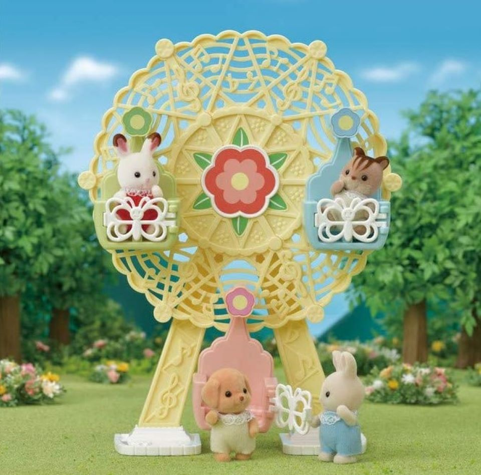 Calico Critters on a ferris wheel