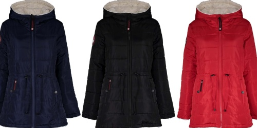 Women's Reversible Hooded Puffer Coats Only $29.99 on Zulily | Includes Plus Sizes