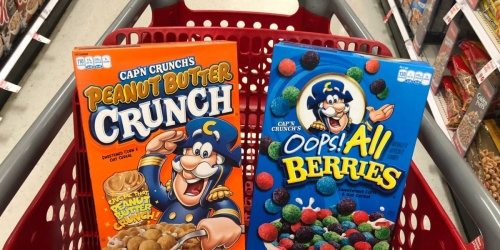 Quaker Cap'n Crunch Cereal 4-Count Only $8 Shipped for Amazon Prime Members | Just $2 Per Box