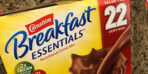 Carnation Breakfast Essentials Drink Mix 22-Pack Just $5 Shipped on Amazon