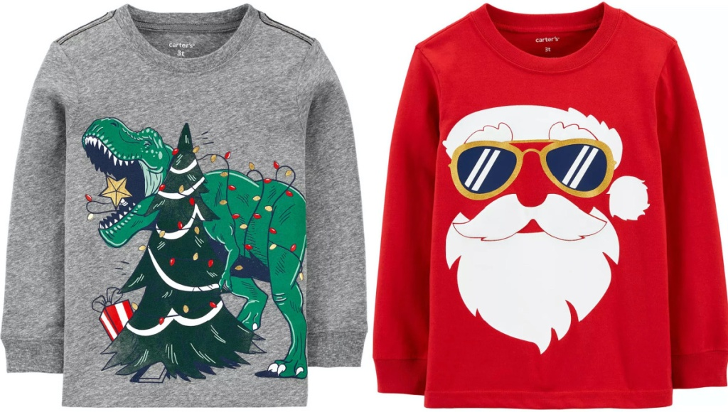 two kids Christmas graphic tees