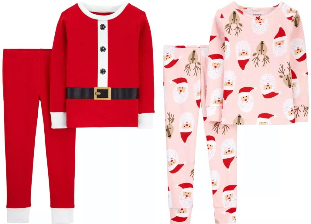 two kids Christmas pajama sets
