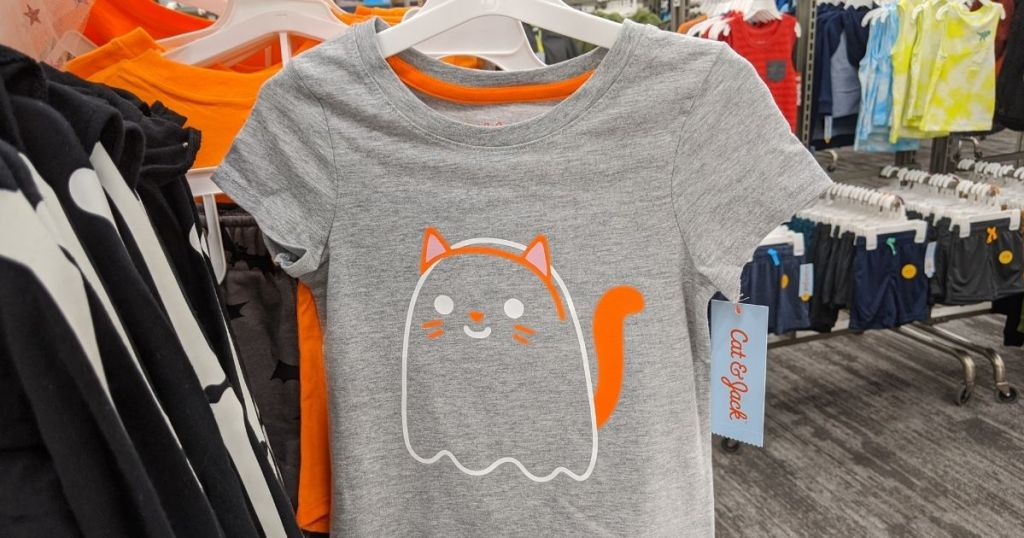 t-shirt with a ghost cat on it
