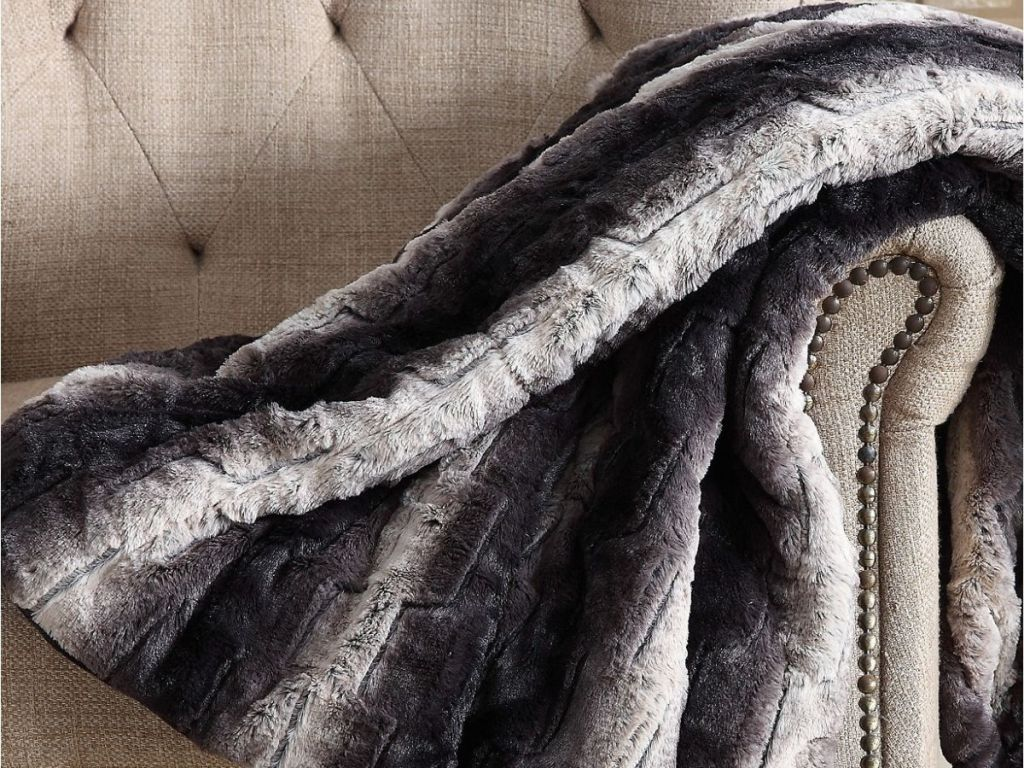 Christian Siriano Luxe Faux Fur Throw