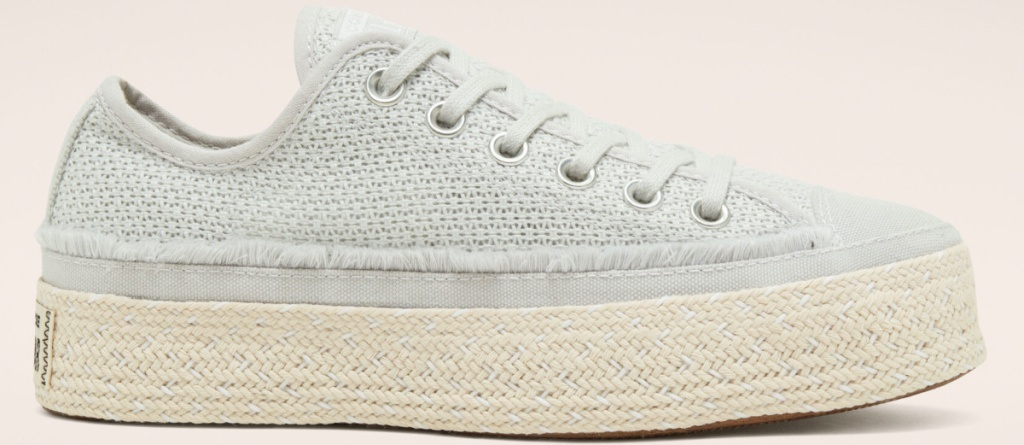 white/natural espadrille shoe