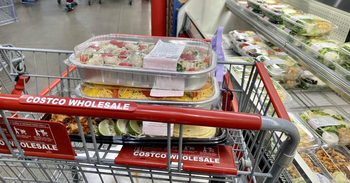Costco prepared meals inside cart