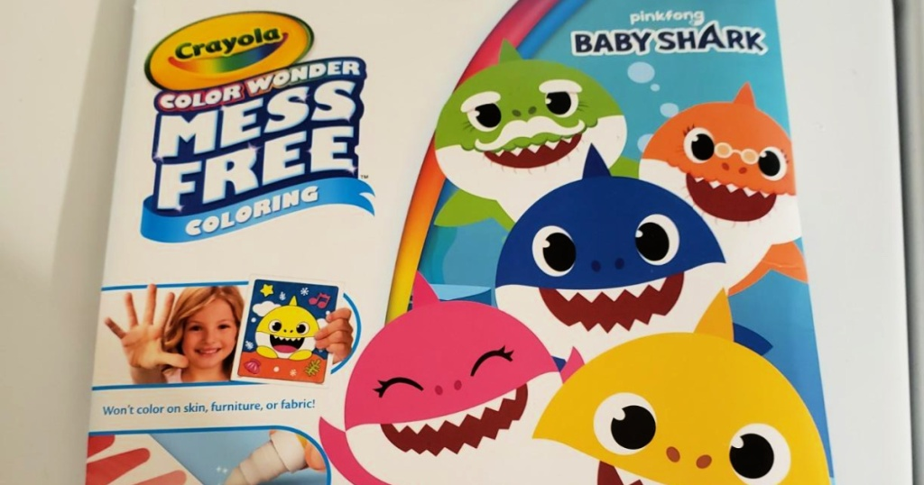 Crayola Wonder Baby Shark Color & Sticker Pages Set