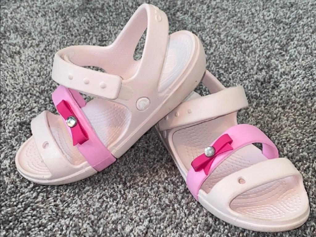 girls pink sandals onc arpet