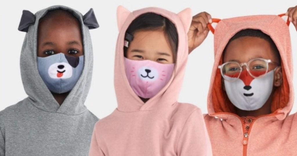 3 kids in mask buddies