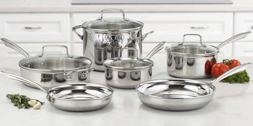 Cuisinart 10-Piece Cookware Set Only $124.99 Shipped for Amazon Prime Members (Regularly $230)