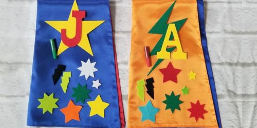 DIY Kids Superhero Cape Kits Only $14.98 Shipped (Regularly $24)