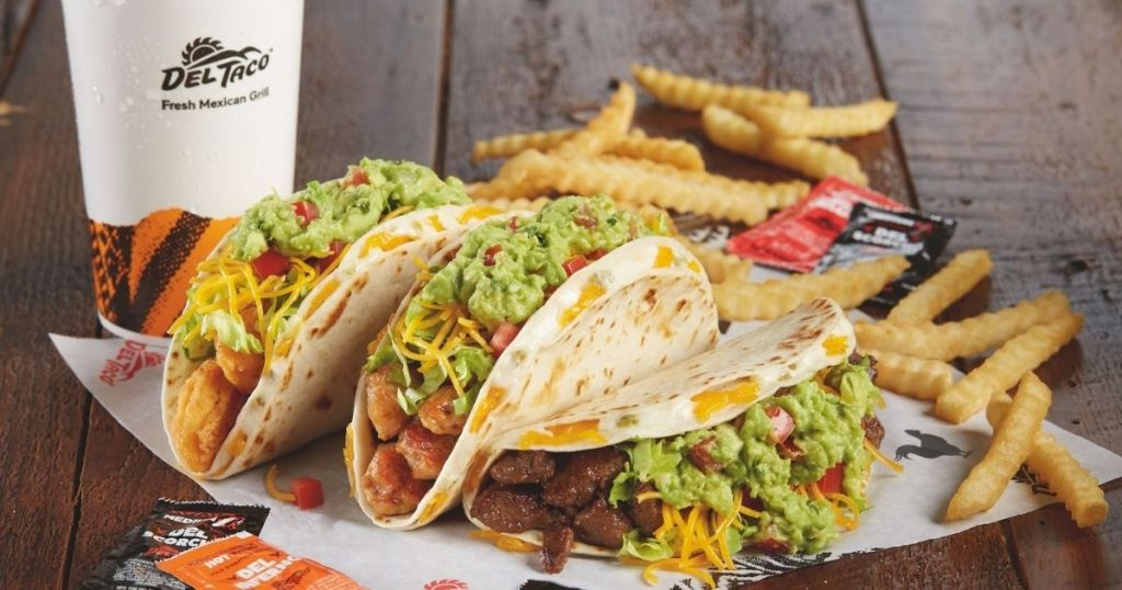 taco meal from Del Taco
