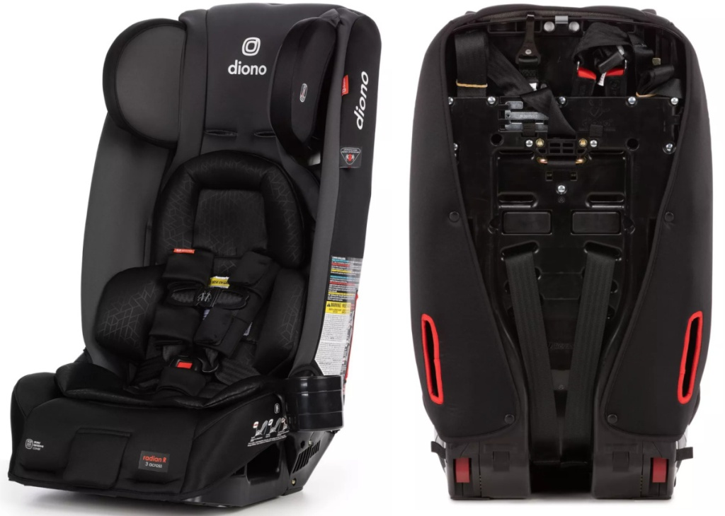 front and back facing Diono Radian 3RXT Car Seat