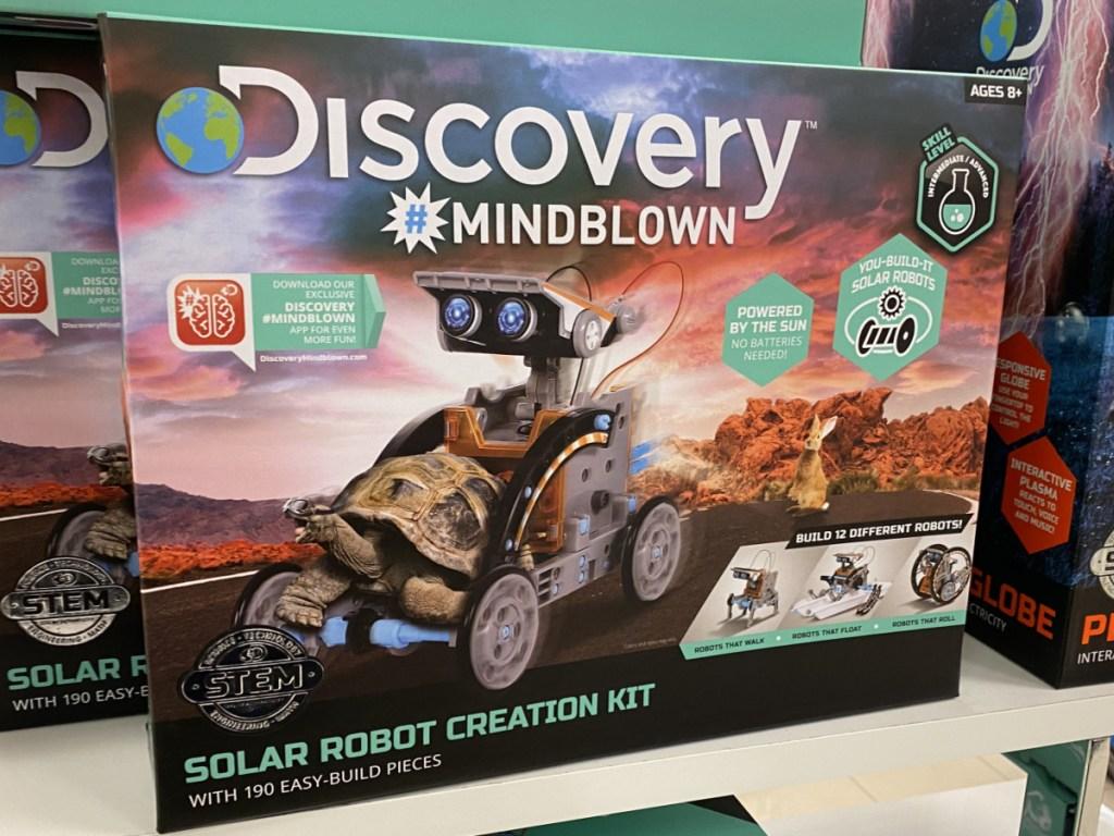 kids solar vehicle kit on store display