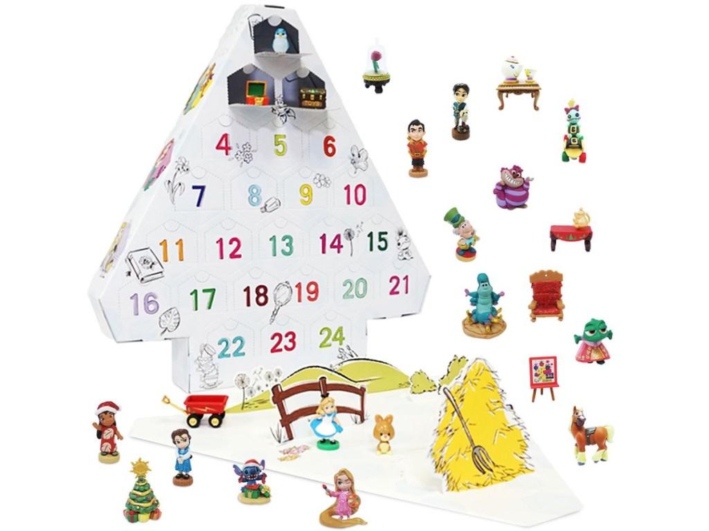 Disney christmas tree advent calendar and mini toys