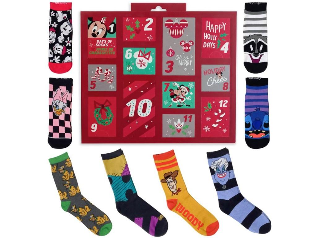 women's Disney sock advent calendar