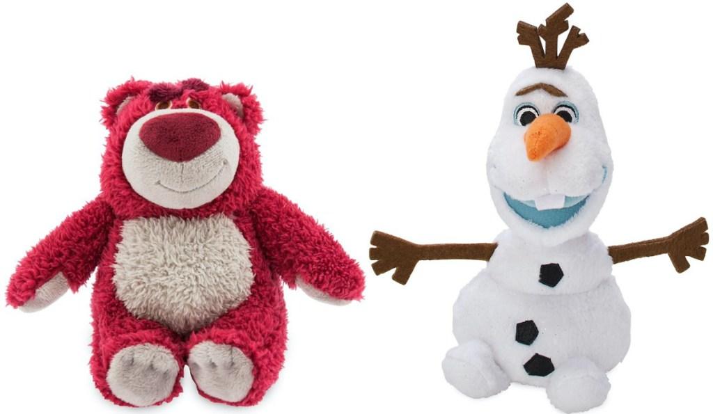 two Disney plush toys