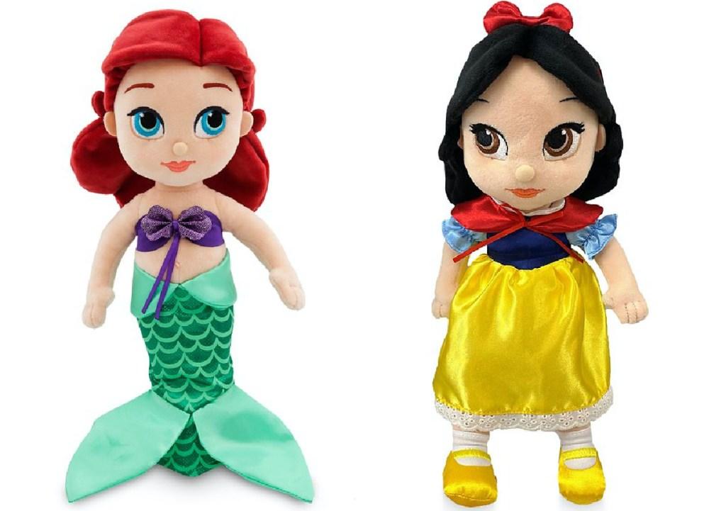 two Disney Princess plush toys