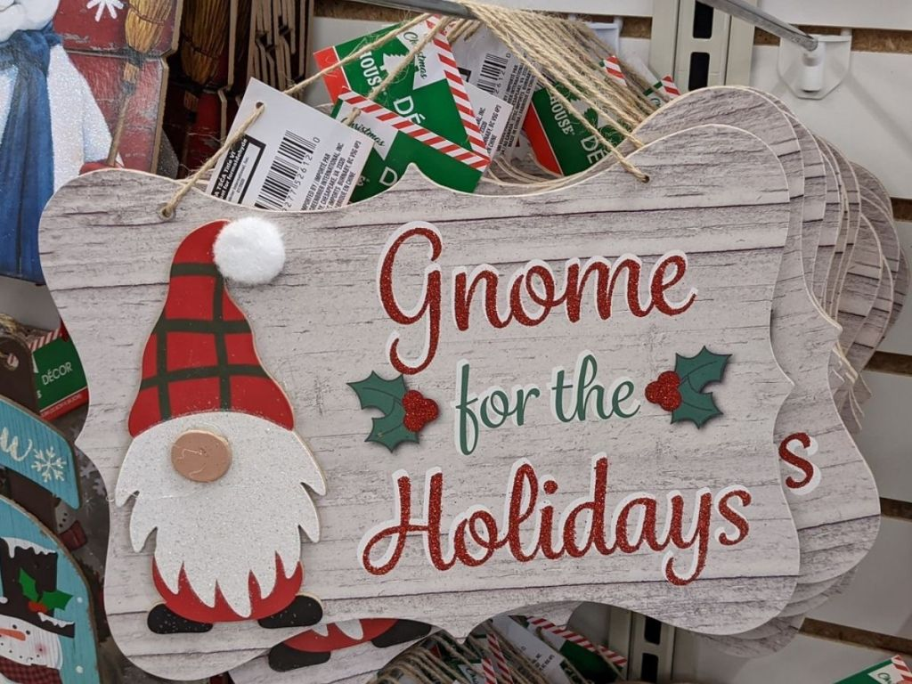 Dollar Tree Gnome Sign
