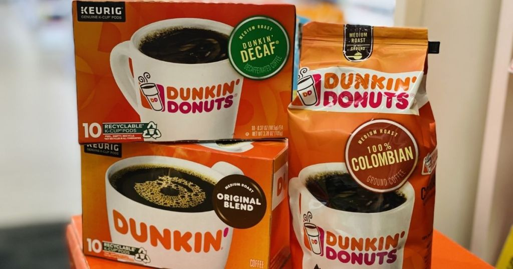 Dunkin Donuts Coffee boxes and bag