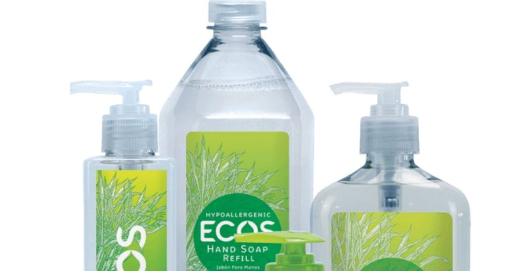 ECOS hand soap products displayed together