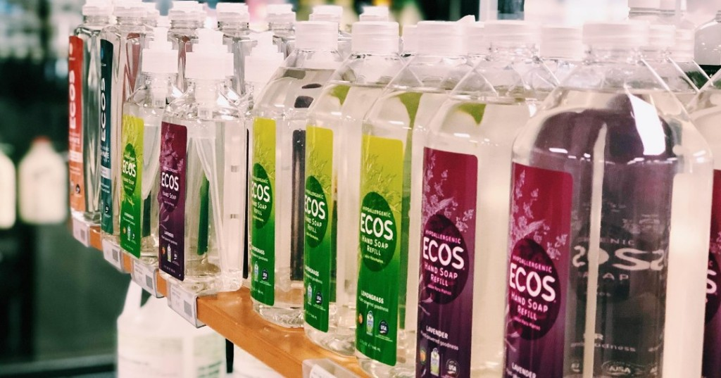 ECOS hand soap refills on shelf