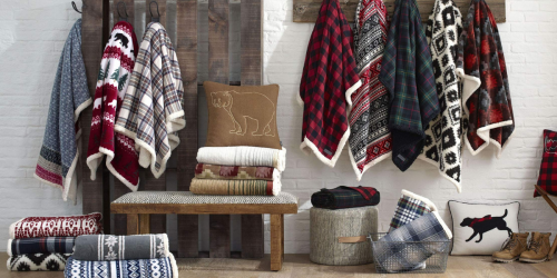 Eddie Bauer Sherpa Lined Throws from $17.96 on Zulily.com (Regularly $40)