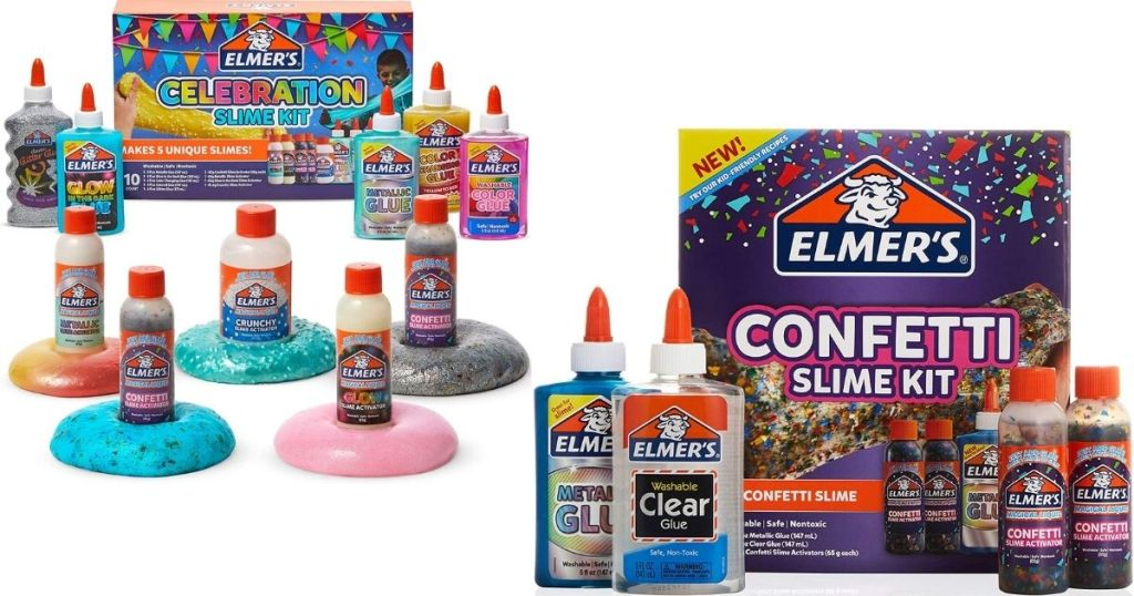 two Elmer's Slime Kits