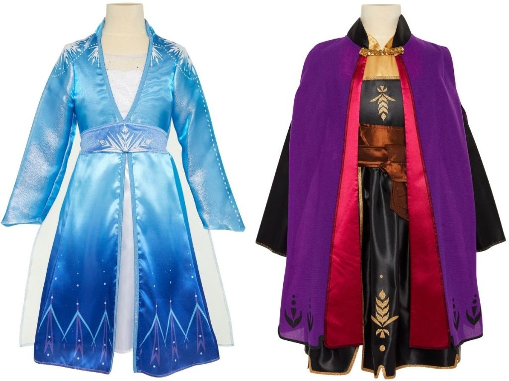 stock image of Elsa and Anna Travel Costumes