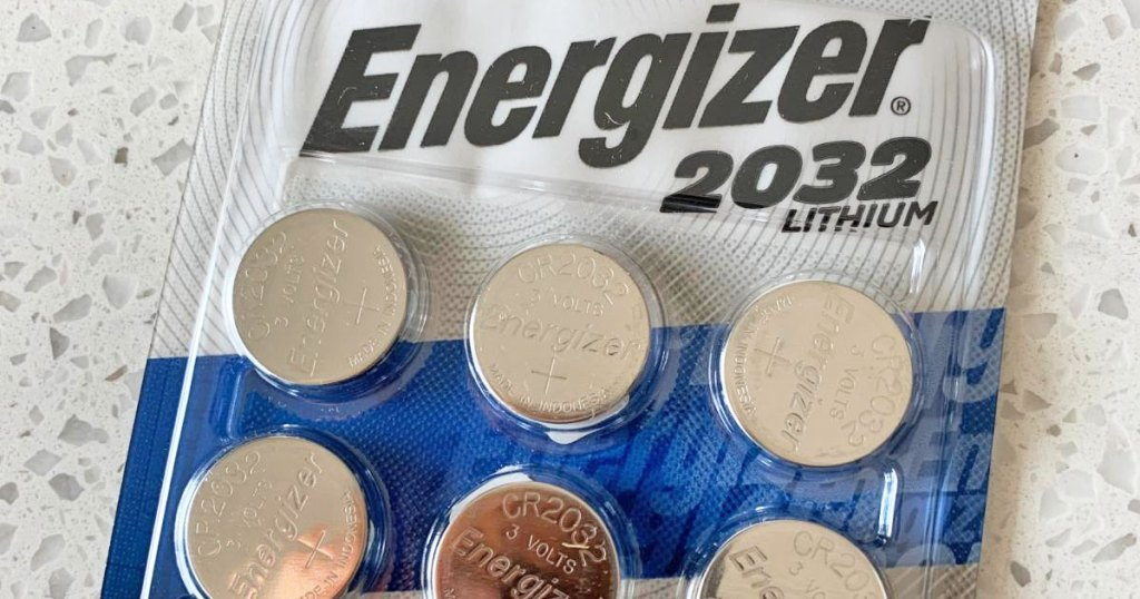 package of size energizer lithium coin batteries