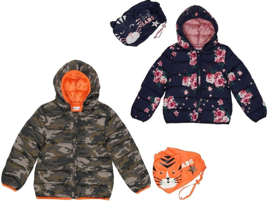 Epic Threads Kids Packable Jackets with storage bags