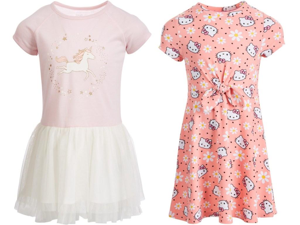 Epic Threads Unicorn Tutu Dress and Hello Kitty Flower Dress