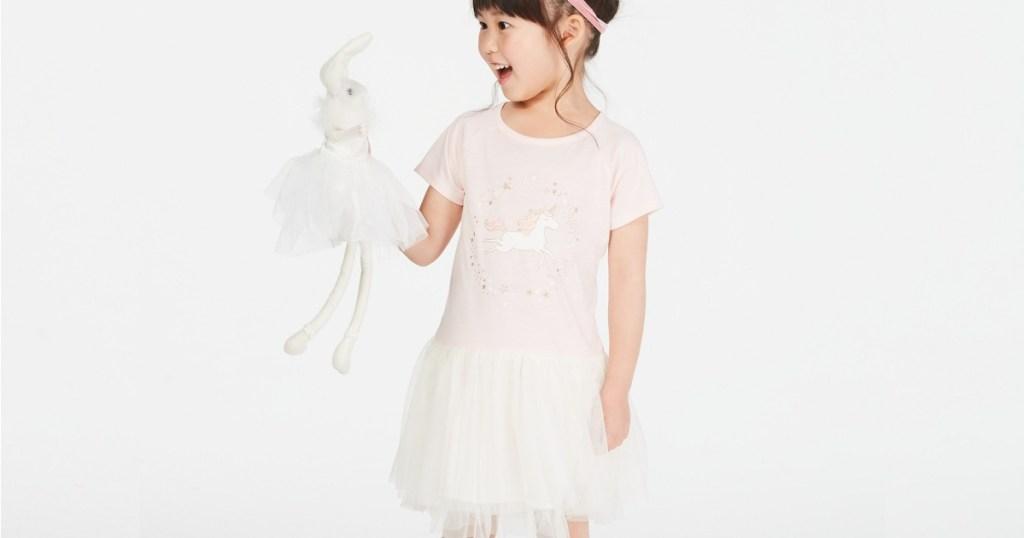 Epic Threads Unicorn Tutu Dress for Little Girls