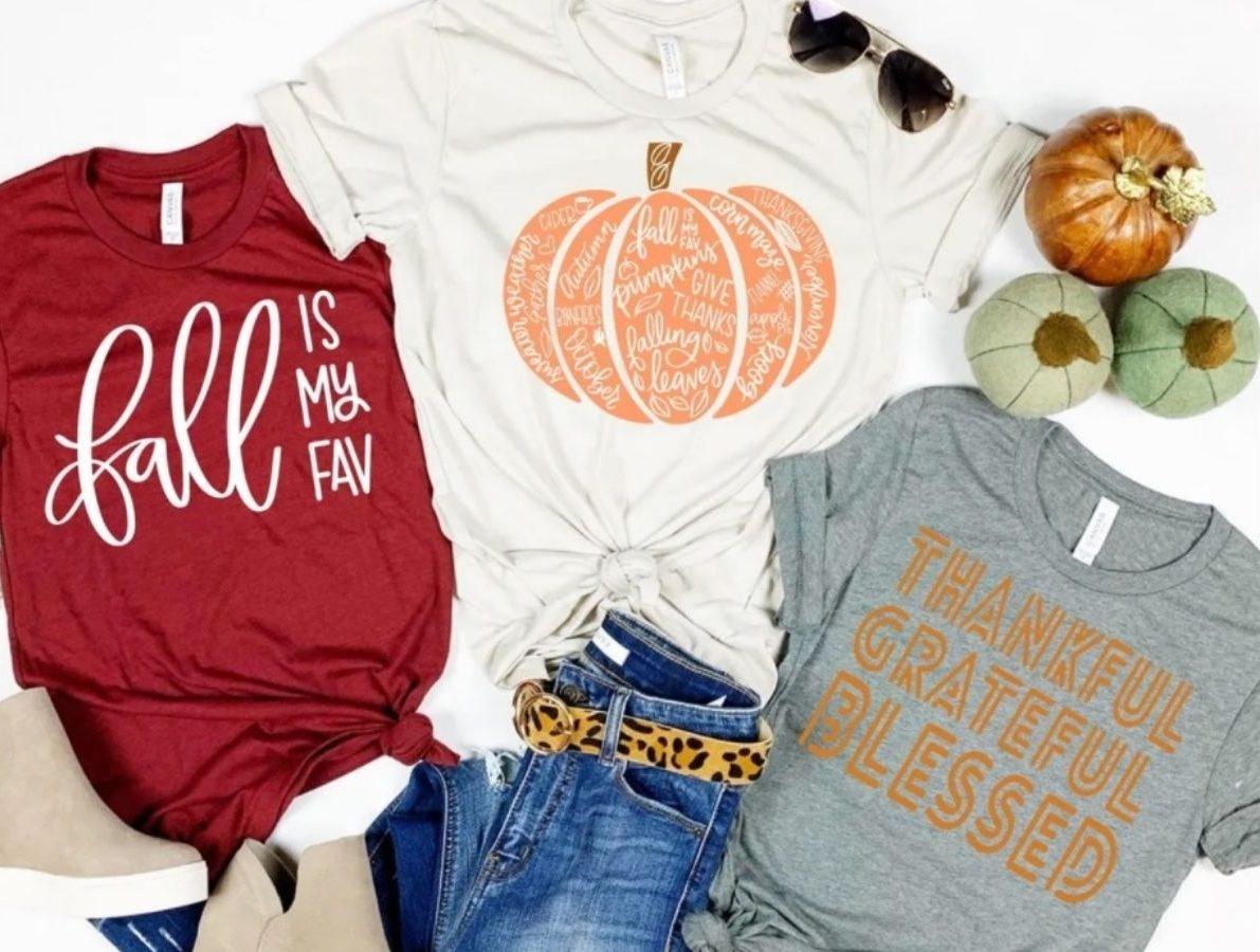 Three Fall Season T-Shirts