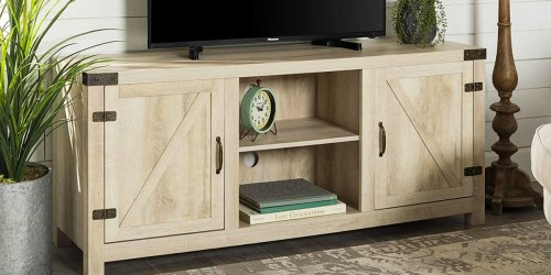 Farmhouse Barn Door TV Stand Just $149.99 Shipped on Amazon | Great Reviews