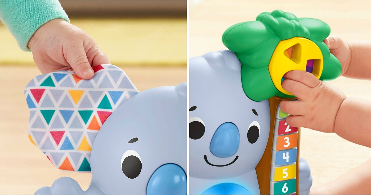 close up images of Fisher Price Koala toy ears