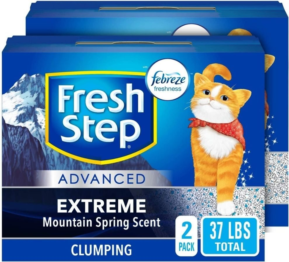Two boxes of Fresh Step Extreme Scent Cat Litter