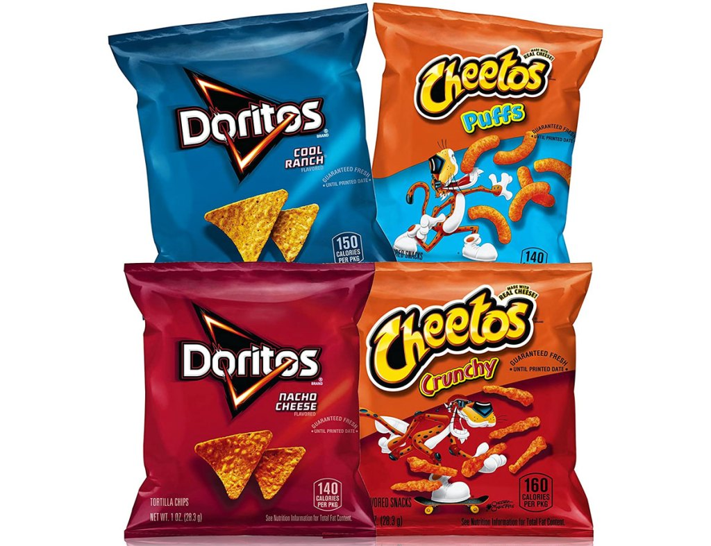 doritos and cheetos individual bags variety pack