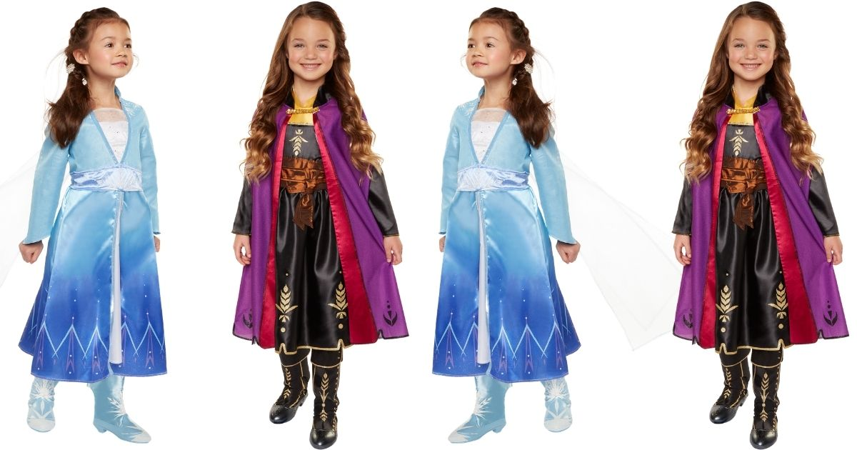 elsa and anna frozen 2 travel costumes