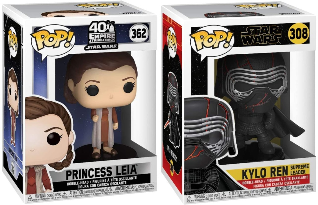 Funko Pop! Star Wars: ESB- Leia (Bespin) and Kylo Ren