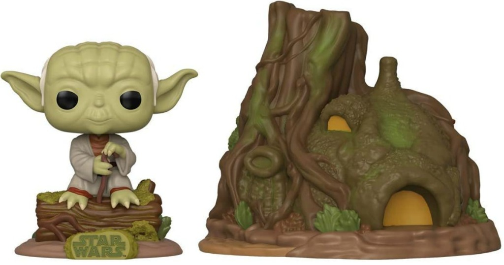 Funko brand Star Wars Yoda figure with his house