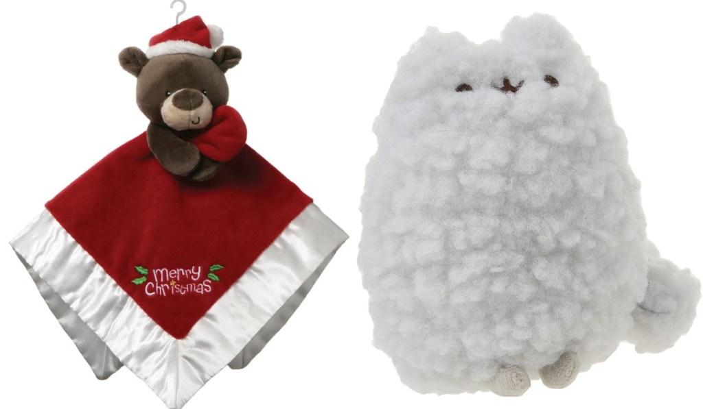 GUND christmas plush with cat plush