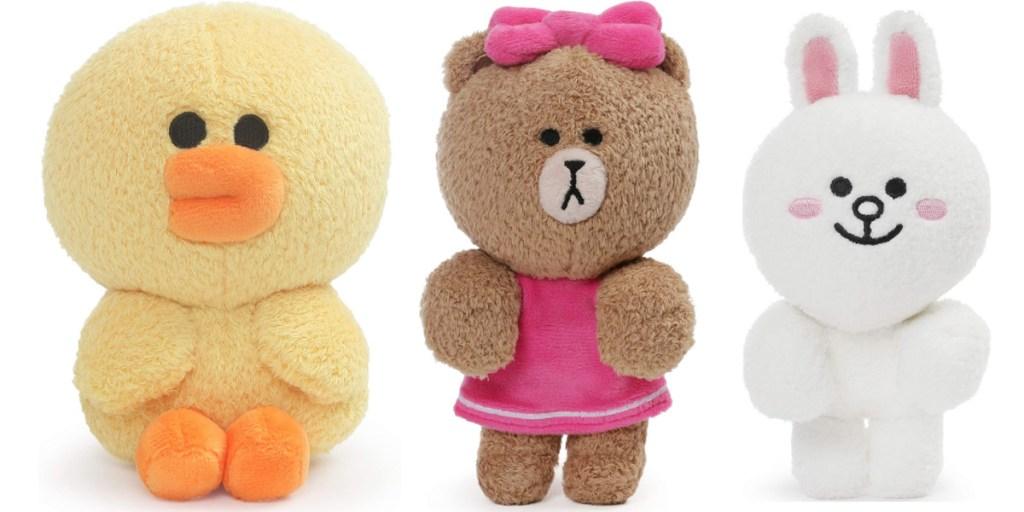 GUND line plush duck bear and bunny