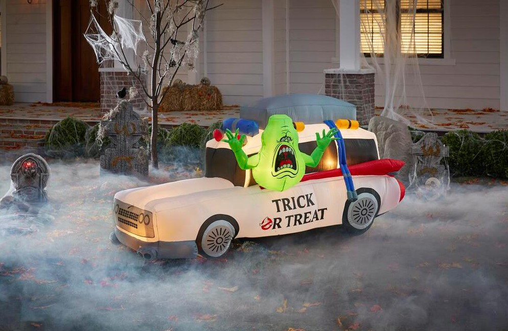 ghostbusters inflatable with slimer