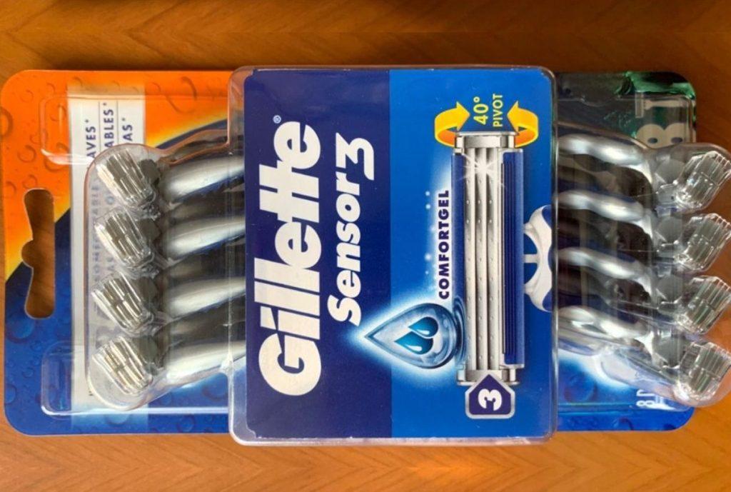 Pack of Gillette Sensor3 Razors