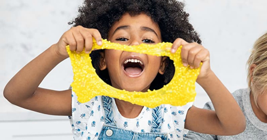Girl with Yellow Foam Dot Slime